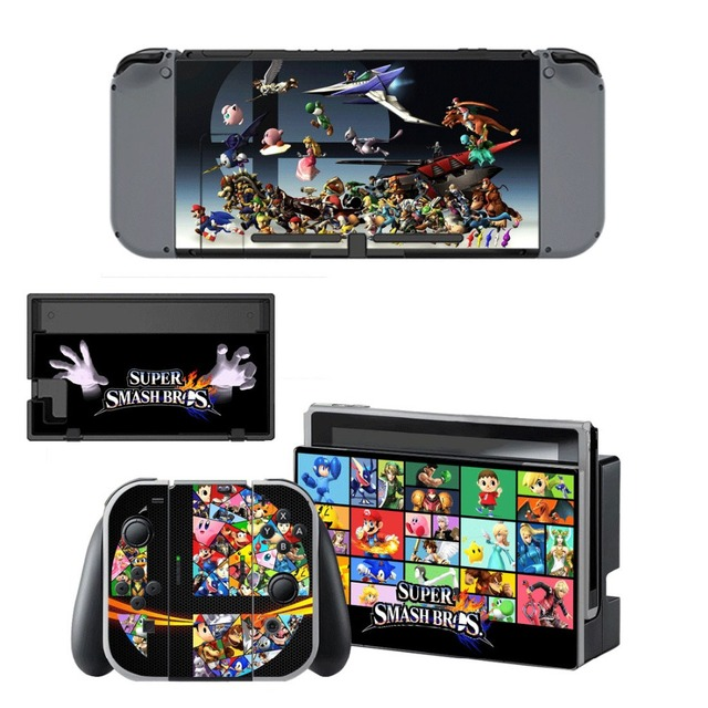 Nintend Switch Vinyl Skins Sticker For Nintendo Switch Console and Controller Skin Set - Super Smash Bros 4