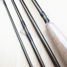 9FT # 5/6 Carbon Fly Fishing Rod Pole 4 Pieces Medium-Fast Action Light Feel 2.7M Length Trout River Fishing