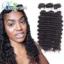 Bloomy  Hair Tatyana Wstco Deep Wave 3 Bundles Unprocessed Brazilian Virgin Hair Curly 100% Human Hair Deep Wave Free Shipping