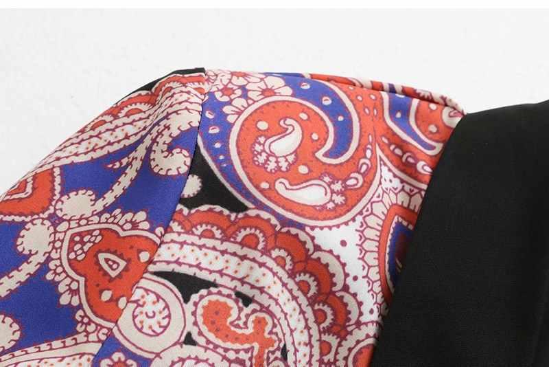 女性ヴィンテージ花柄ツーピースセット 2019 新コートワイドレッグパンツウエストゴムスーツターンダウン襟カジュアルルース服