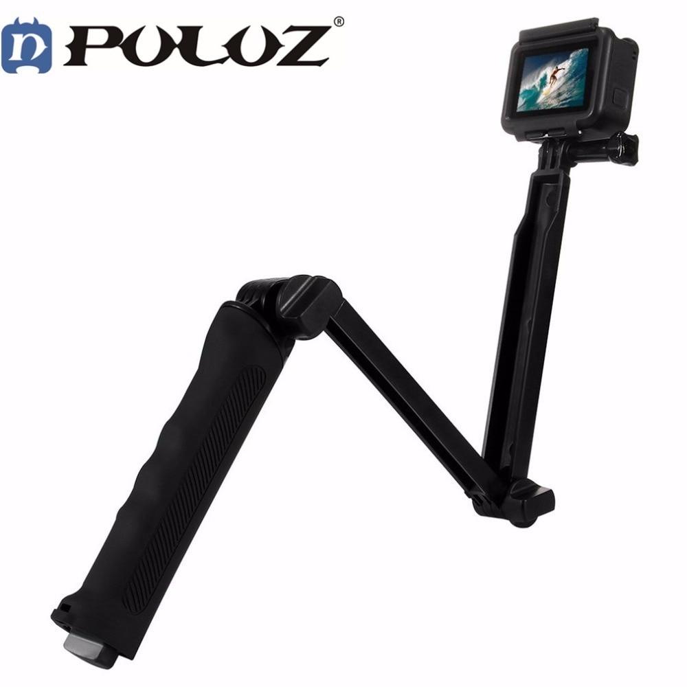 Puluz 3 Way Floating Handle Grip Tripod Mount Selfie Stick for Go pro Hero 5/4/3 xiaomi yi sj4000 5000 sony action cam