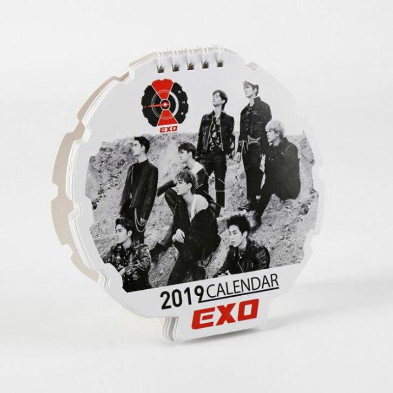 1 Pcs Hot Koreanische Kpop Exo 2019 Jahr Schreibtisch Kalender Fans Sammlung Schreibwaren Tisch Kalender Geschenke