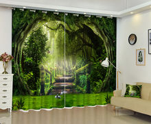 Landscape Of Ancient Forest 3D Window Curtain For Living Room(China)