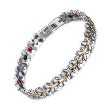Fashion Trend Women Butterfly Shape Stainless Steel Magnet Four-a Bracelet Female