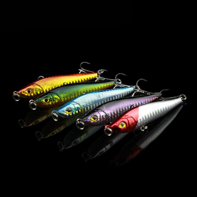 Maloobchod 5 barev tužka tvrdá návnada umělá 8cm 15g rybářská návnada se dvěma háčky 6 # háčky lehká váha rybářské potřeby slaná voda
