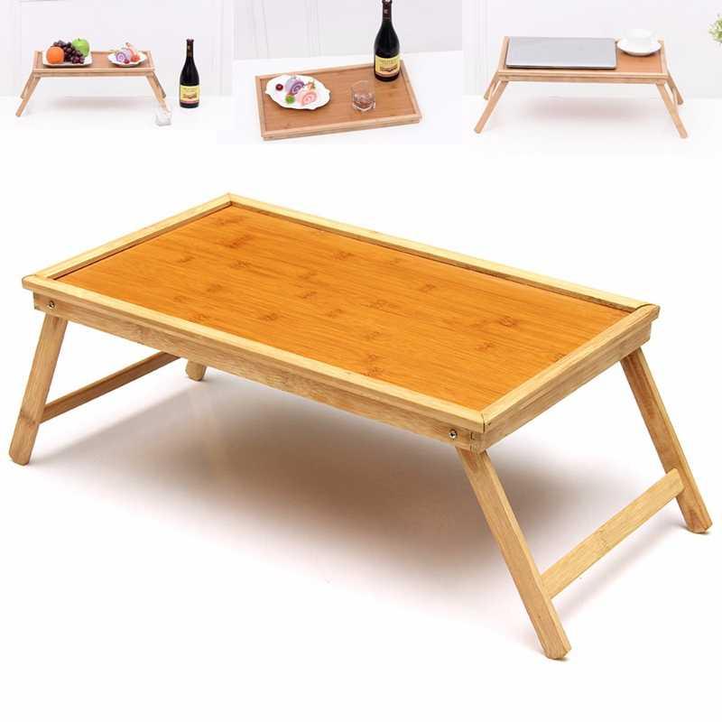 Складной Деревянный бамбуковый кровать лоток завтрак ноутбук стол чай сервировки Настольный штатив новый авто держатели для ноутбука держател