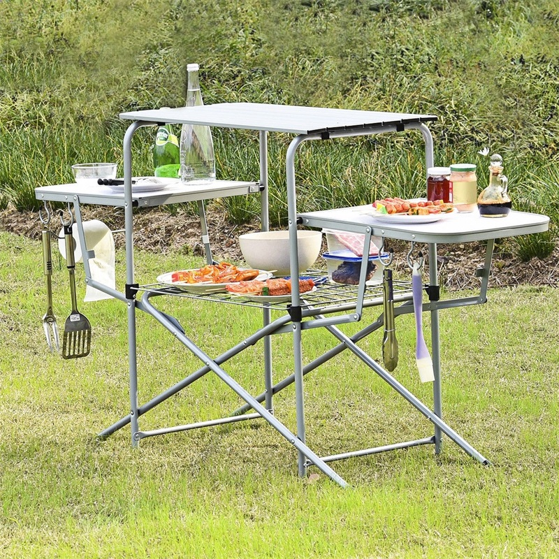 Meal - Foldable Outdoor Kitchen Grilling Stand BBQ Table