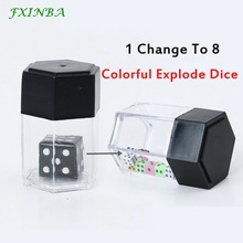 FXINBA Magic Explode Dice Box Set Magic Tricks Props Close Up Easy Magic Trick For Professional Magicians Prank Joke Toy Kids 1set tenyo paradox magic tricks kids close up magic prop parabox easy to do for magicians kids magic gift e3049