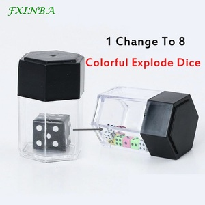 FXINBA Magic Explode Dice Box Set Magic Tricks Props Close Up Easy Magic Trick For Professional Magicians Prank Joke Toy Kids(China)