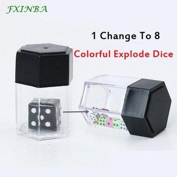 FXINBA dado que explota la caja de accesorios de trucos de magia Close Up truco de magia fácil para magos profesionales broma juguete niños