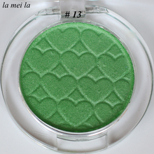 2017 Hot Sale New Makeup Super Shock Durable Waterproof Single color Shimmer Green Eye Shadow #13