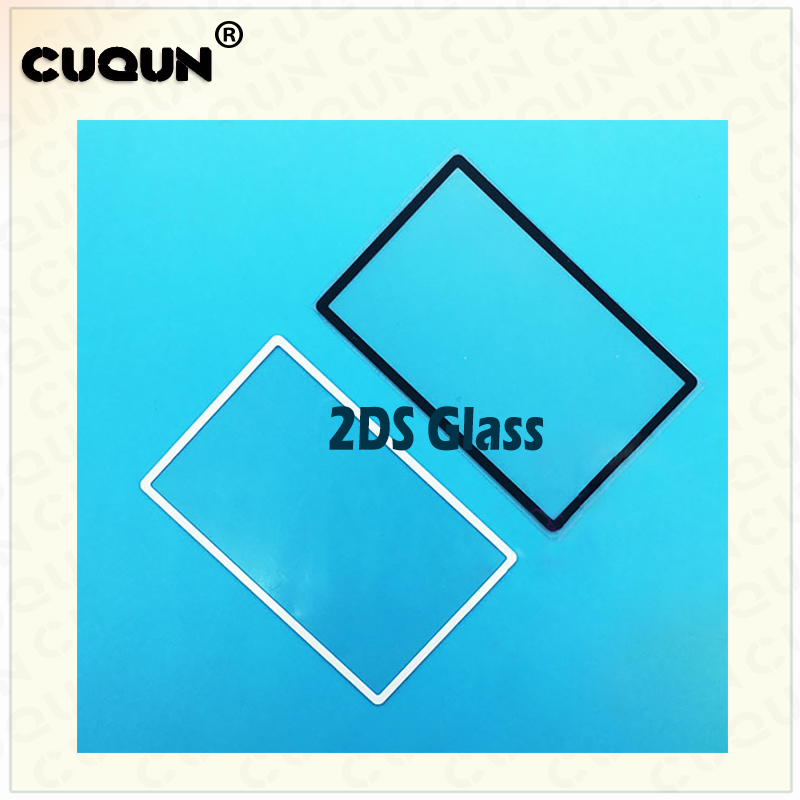 2DS Top Surface Glass Mirror Screen Outer Lens Cover Top Upper LCD Screen Front Plastic Glass Cover