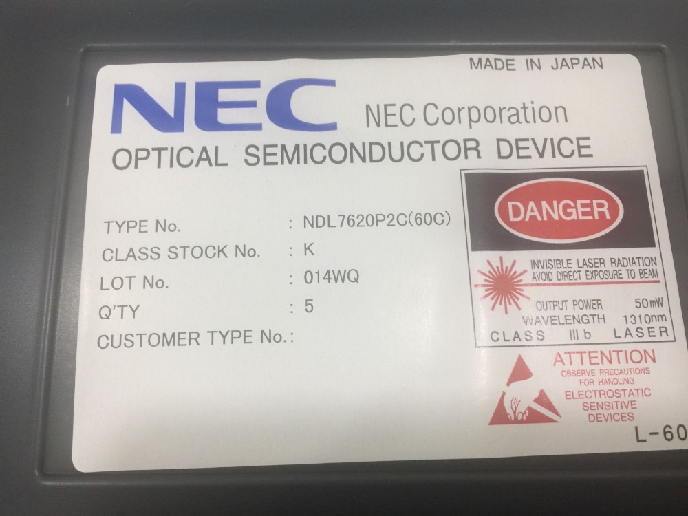 Optical semiconductor device 1310nm 2mW DFB laser NDL7620P2C price for 5pcsOptical semiconductor device 1310nm 2mW DFB laser NDL7620P2C price for 5pcs