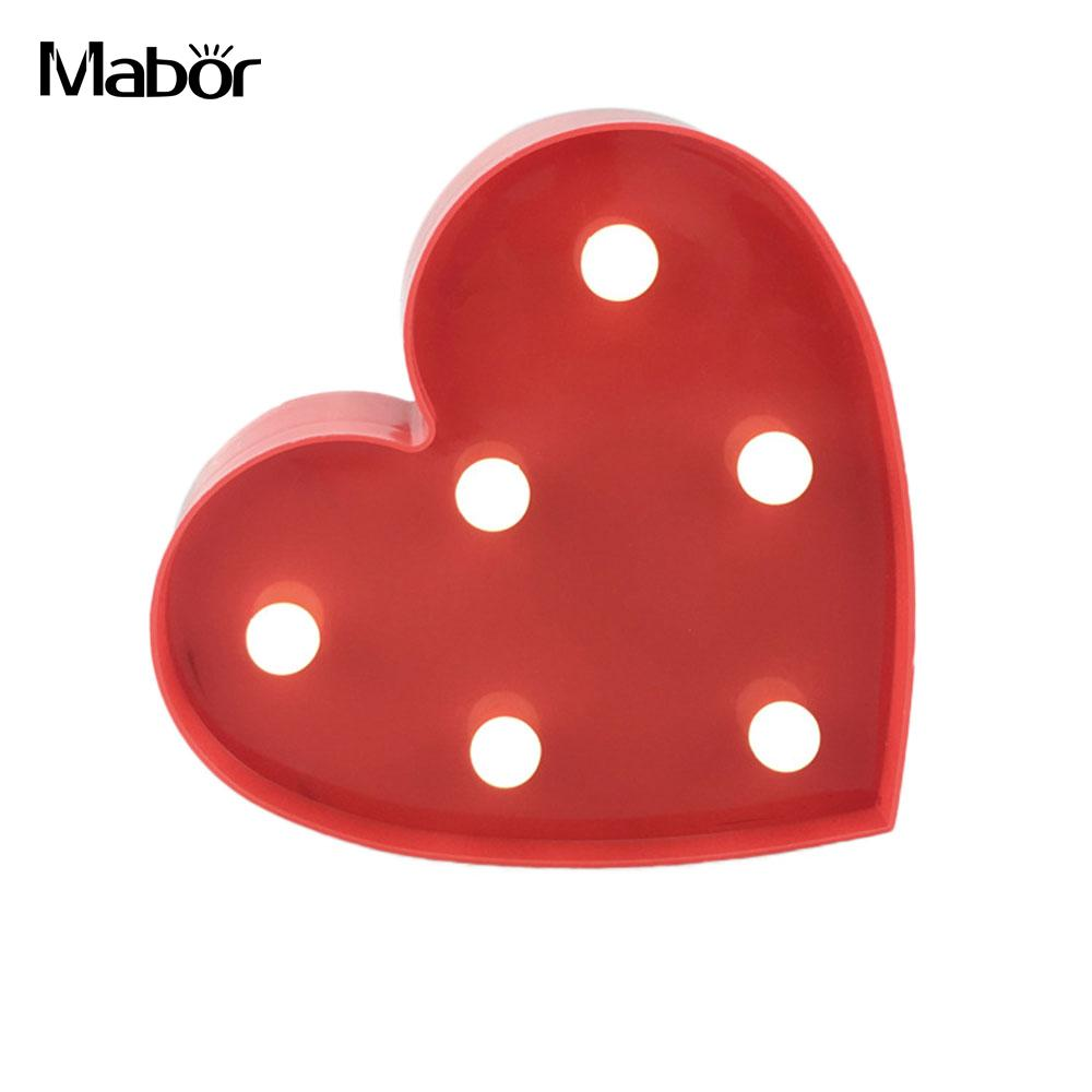Romantic Red Heart LED Light Lamp Wedding Favor Night Light Holiday Festival Decoration Lamps For Party Battery Drop Shipping