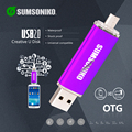 smart phone USB Flash Drive High Speed USB 2.0 OTG Memory Stick 10 Colors Custom Gift Pen Drive 64GB 32GB 16GB Can Track