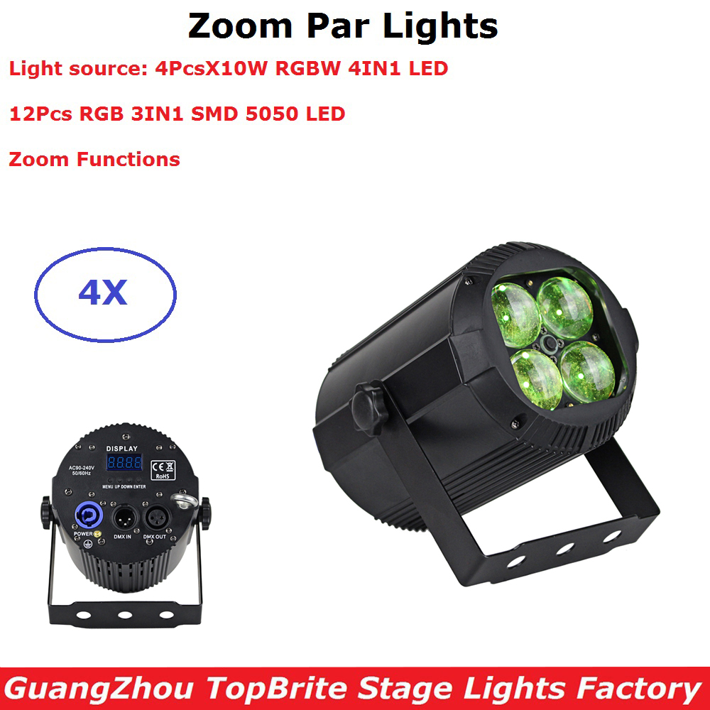 4XLot Zoom Par Lights 4X10W RGBW 4IN1 Stage Lighting Effect 512 Club Disco Lights Party Ballroom KTV Bar Wedding DJ Projector4XLot Zoom Par Lights 4X10W RGBW 4IN1 Stage Lighting Effect 512 Club Disco Lights Party Ballroom KTV Bar Wedding DJ Projector