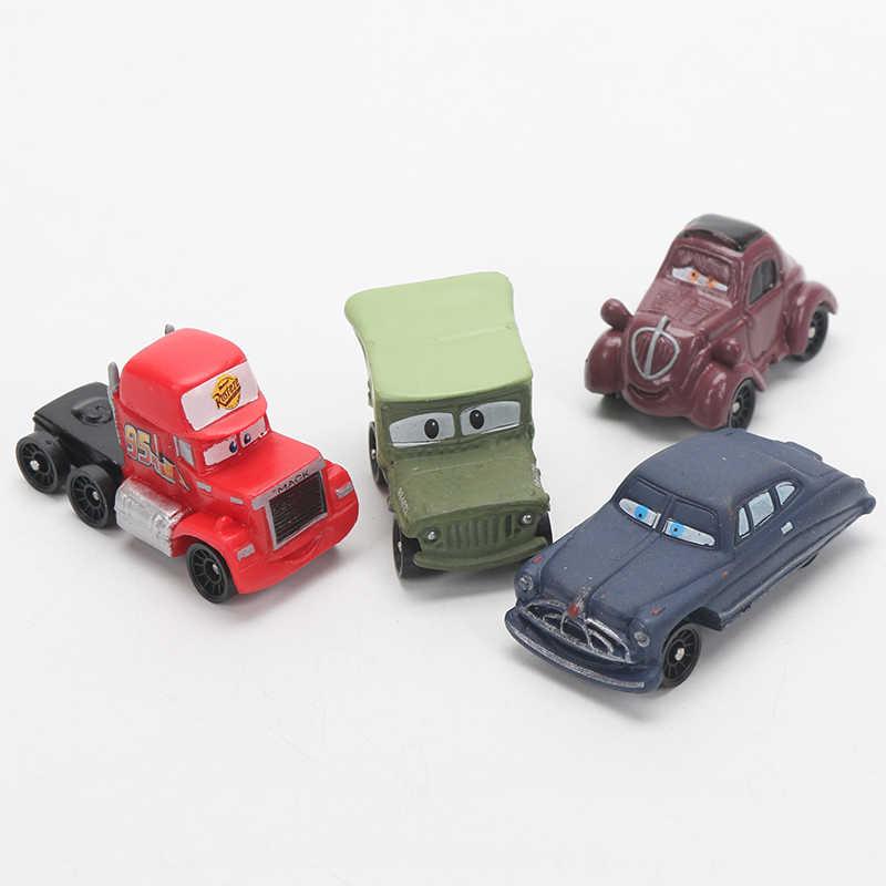 4-6 Cm 24 Buah/Banyak Disney Pixar Cars 3 Lightning McQueen Mater Jackson Badai Ramirez 1:55 Diecast ABS Mobil model Mainan Hadiah untuk Anak Laki-laki