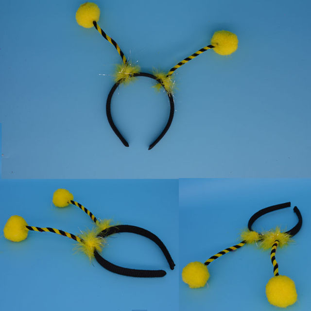 Kids Adult Alien Antenna Headband Eyes Tentacles UFO Bee Ladybug Hair Band Cosplay Headwear Party Favors Gift  Christmas