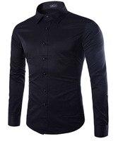 2017 neue Marke Mode Frühjahr Langarm Kleid Hemd Baumwolle Solide farbe Kausale Bussiness Herren hemd plus größe 5XL passen in UC841