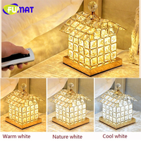 FUMAT Crystal K9 Princess House Night Light Romantic Remote Control Desk Lamp Ideas Luxury Bed Lamp Decorated Table LED lighting