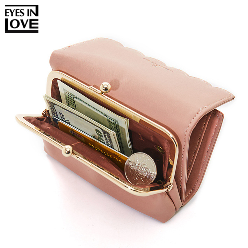 New Fashion Trifold Ladies Wallets With Coin Pocket Card Holder Brand Small Wallet Women High Quality Female Mini Purse Stylish