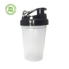400 мл, бутылка-шейкер, смесь белкового порошка, Спортивная бутылка для воды с мешалкой, герметичная крышка, BPA бесплатно