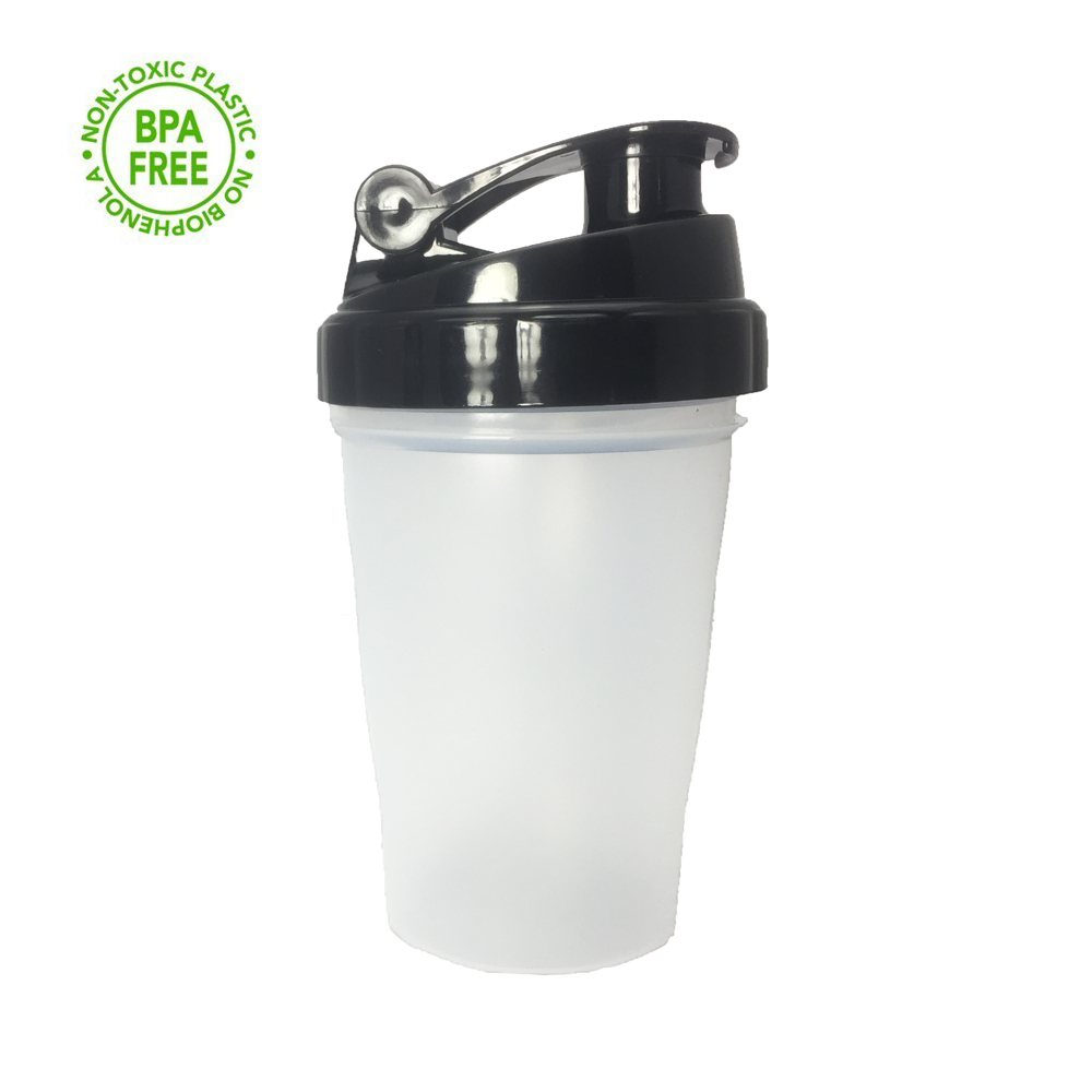 400ml Shaker Bottle Mix Protein Powder Gym Sports Water Bottle With Stirring Ball Leak Proof Lid BPA Free