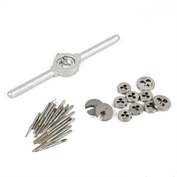 30Pcs Mini HSS Metric Thread Plugs Taps Dies Wrench Handle M1 M2.5 Screw Tap Combination Set