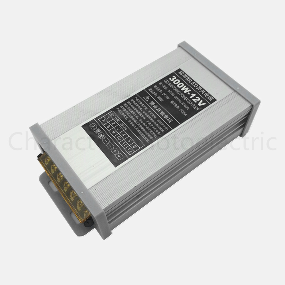 AC 187-265V LED Driver 300W <font><b>12V</b></font> <font><b>25A</b></font> LED <font><b>Power</b></font> <font><b>Supply</b></font> Rain-proof LED Light <font><b>Power</b></font> Adapter Outdoor Application image