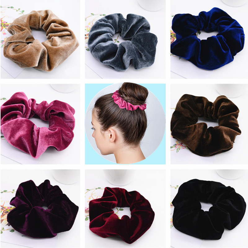 New Arrival Quality Velvet Scrunchies For Hair Adult Women Hair Ties Ponytail Holder Accessories Pt013 Shop The Nation