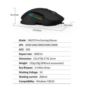 Image 5 - Delux M627S DIY 측면 날개 유선 게이밍 마우스 8 버튼 10000 인치 당 점 RGB 백라이트 PC 게이머 용 광학 왼쪽 및 오른쪽 마우스