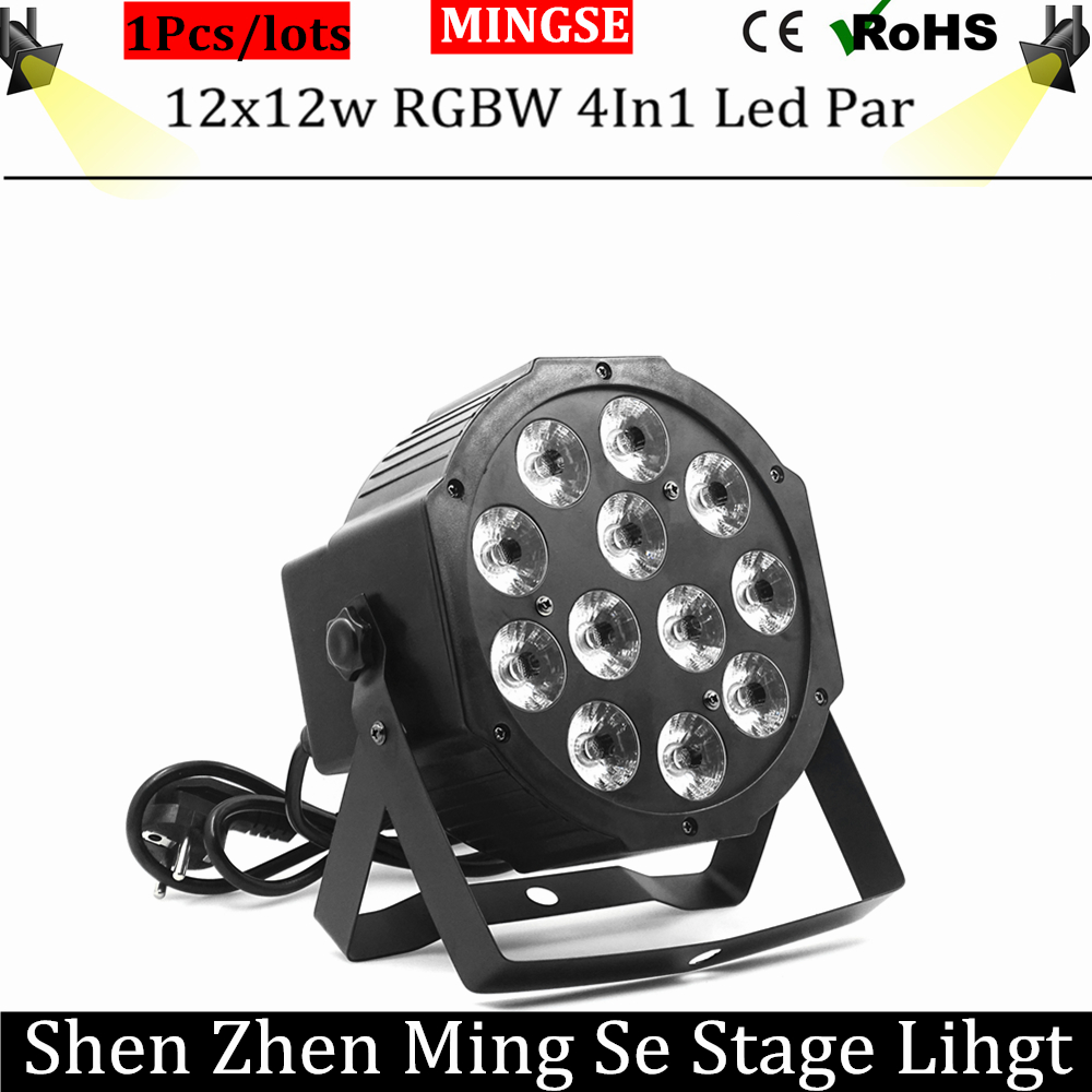 12pcs 12w led  lamp beads 12x12W led Par lights RGBW 4in1 flat par led dmx512 disco lights professional stage dj equipment fast russia shipping 7x12w led par lights rgbw 4in1 flat par led dmx512 disco lights professional stage dj equipment