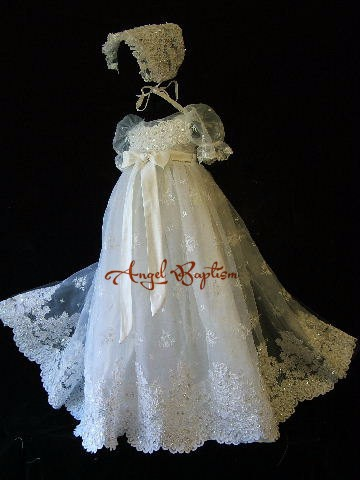 Embroidery Beaded Christening Gown Baby Dresses Newborn