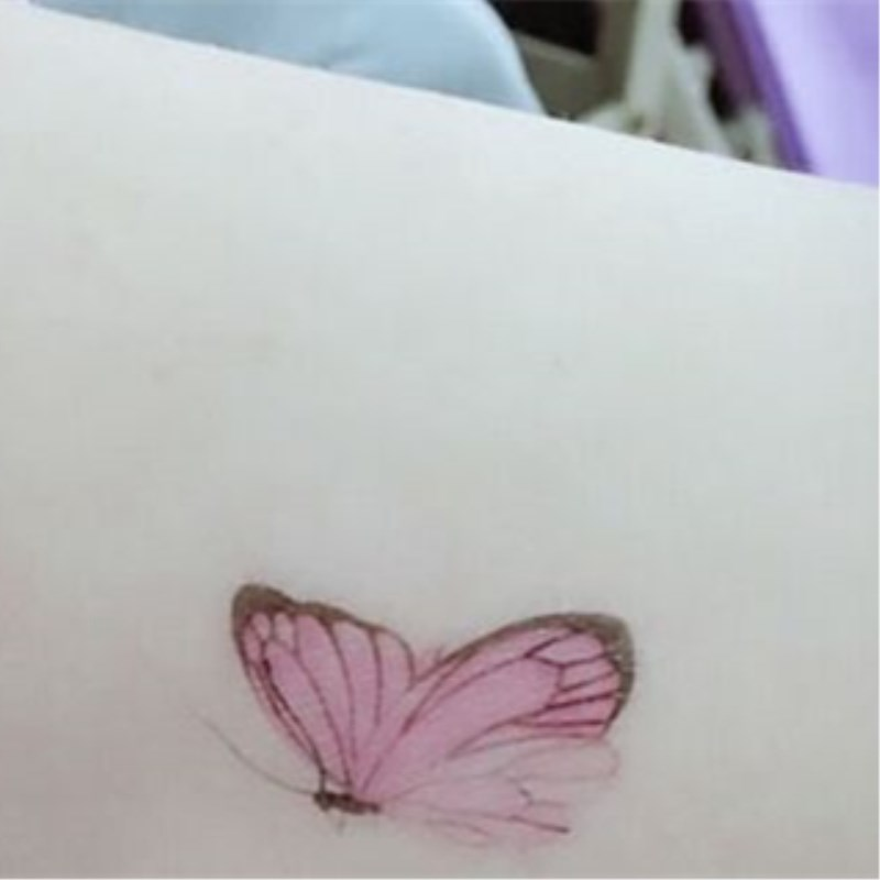 Image 3 - Waterproof tattoo color hand painted male and female small fresh Lasting Color Butterfly Stickers-in Temporary Tattoos from Beauty & Health