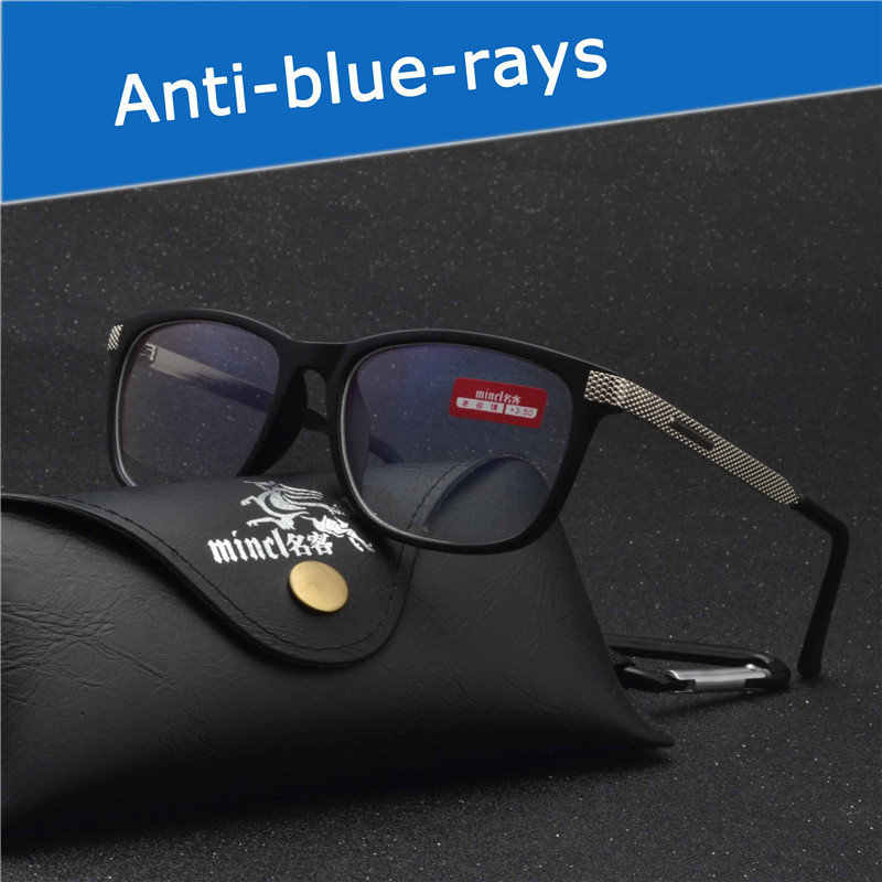 MINCLQuality Presbyopia Unisex Casual Presbyopic Glasse Reading Glasses Anti-blue-rays Anti-glare reading glasses with box FML