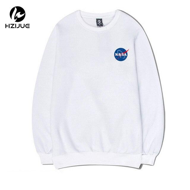 2017 HZIJUE NASA men Women hoodies long sleeve o-neck slim fit man sweatshirt cotton casual hombre tops fashion pullover S-XXL