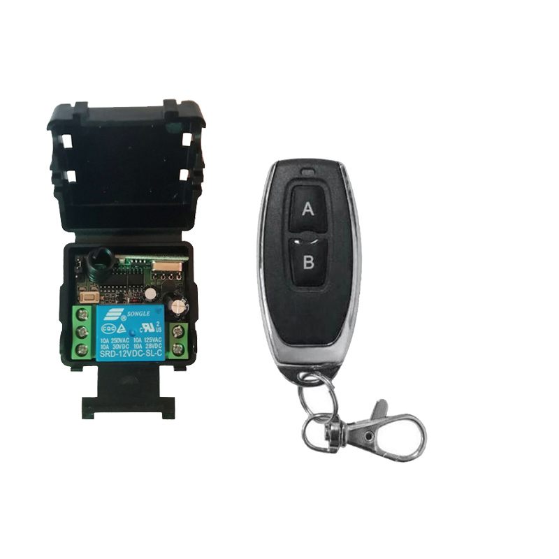 433Mhz Universal Wireless Remote Control Switch DC 12V/24V 1CH Relay Receiver Module RF Transmitter 433 Mhz Remote Controls