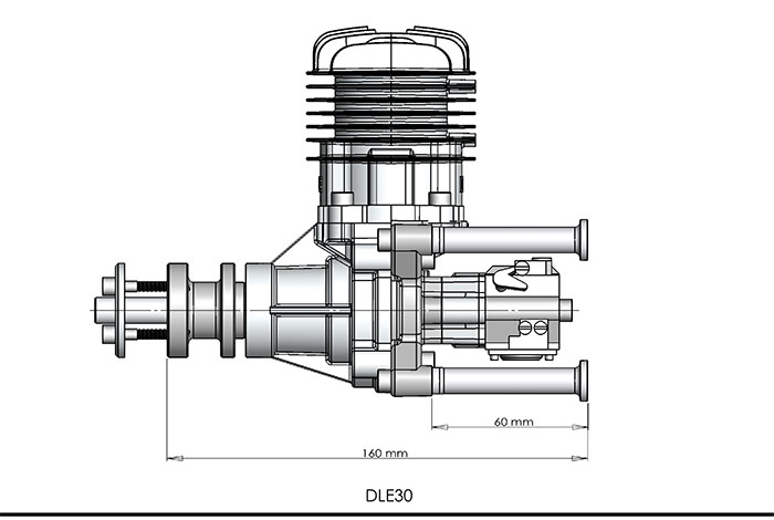 DLE30 30cc GAS Motor für RC Flugzeugmodell Einzelhub zwei Auspuff - Spielzeug für die Fernbedienung - Foto 5