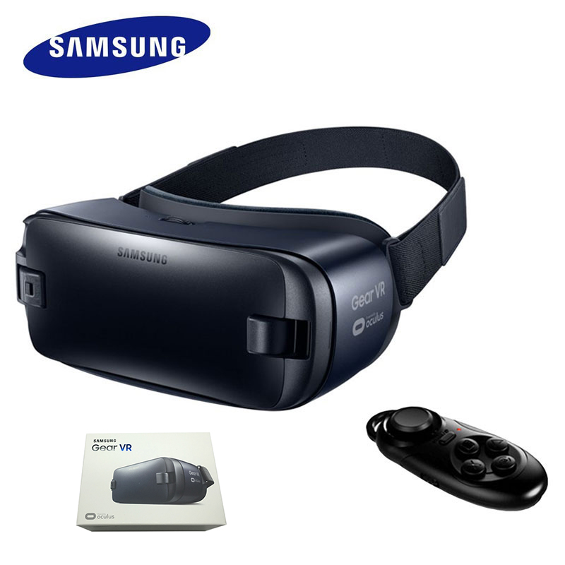 100 Original Gear 4.0 3D VR Glasses Virtral Reality Helmet for Samsung Smartphone with Package + Bluetooth Remote Controller
