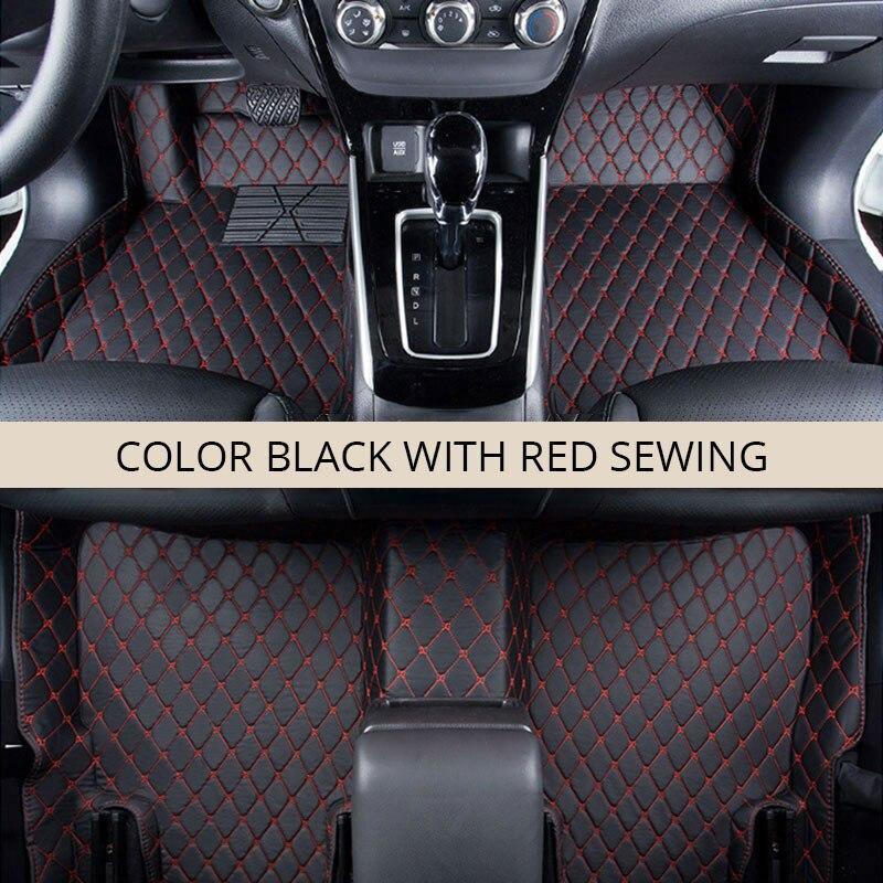 Tapis de sol de voiture LHD pour Mitsubishi Outlander 5 sièges 2018 2017 2016 Auto tapis voitures en cuir imperméable tapis de sol voiture-style