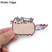 D0269 Homegaga Pretty Cartoon cat patches Iron on Patch popular for DIY hat cosplay wallet bag shoes Sticker