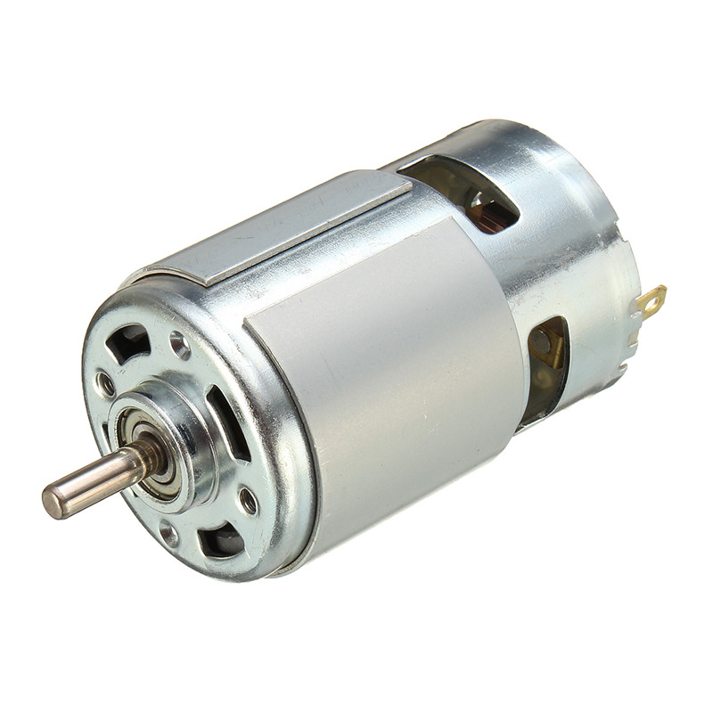 775 dc motor dc 12v 36v 3500 9000 rpm ball bearing large for Low speed dc motor 0 5 6 volt