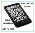 "ONYX BOOX c67ml carta2 new ebook  8G  touch  screen 6""  ereader 300dpi 3000mAh  Android WIFI electronic book free shipping+cover"