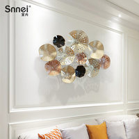 European restaurant wall decoration Living room iron three dimensional Stereo hollow design shadow light