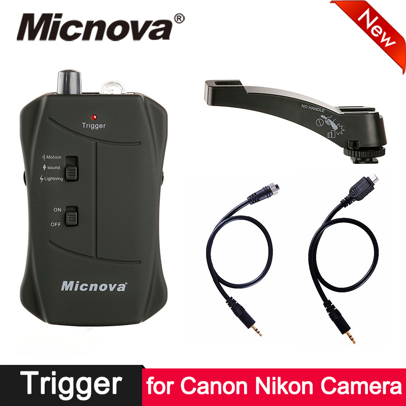 Micnova IR télécommande déclencheur déclencheur son de mouvement éclair 3 en 1 déclencheur pour Canon Nikon reflex caméra télécommande capteur