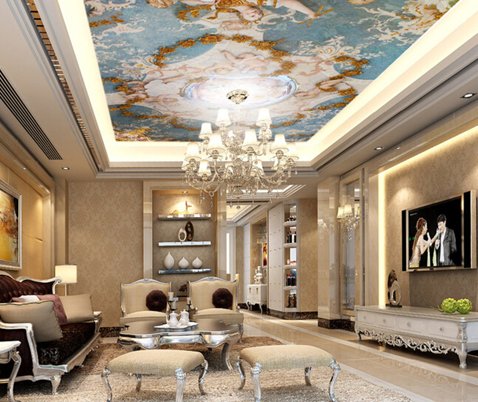 Aliexpress Com Buy Custom Ceiling Murals Wallpaper The