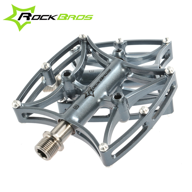 ФОТО ROCKBROS MTB Professional Bike Bicycle Cycling Bearing Flat/Platform Pedals Mountain Road Bike Riding Ultralight Pedal 3 Colors