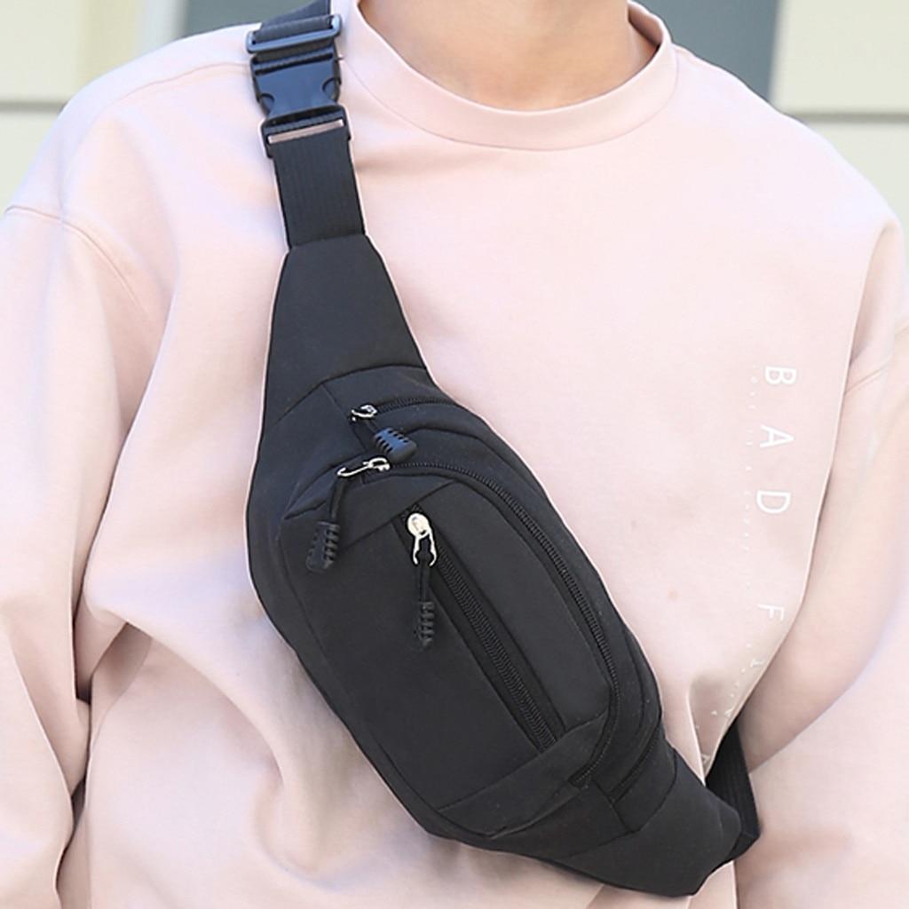 Men's And Women Simple Leisure Fashion Oxford Sport Fitness Waist Packs Outdoor Sport Waist Bag Bolsa Cintura For Man And Woman