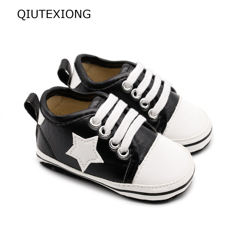 Stars canvas shoes Moccasins Toddler Schoenen Stars shoes Sport Shoes For Baby Boy Kid Casual Shoes Soft Sole Pram Shoes0-18M