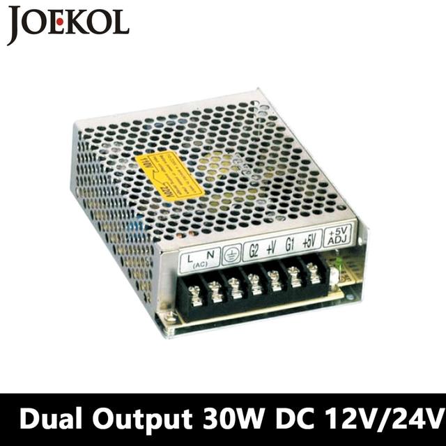 Double output DC power supply 30W 12V 24V,smps power supply for led driver,AC110V/220V Transformer to DC 12V/24V